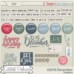 #2018 December - Snippets by Connie Prince