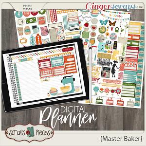 Master Baker Planner Pieces - Scraps N Pieces