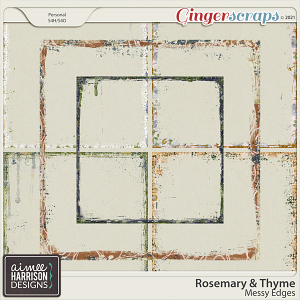 Rosemary and Thyme Messy Edges by Aimee Harrison