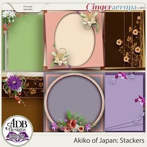 Akiko Stacked Papers {DOTW - Japan} by ADB Designs