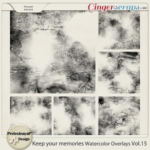 Keep your memories Watercolor Overlays Vol.15