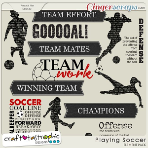 Playing Soccer Wordart
