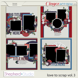 Love to Scrap Volume 3 Templates by Shepherd Studio