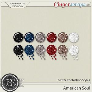 American Soul Glitter CU Photoshop Styles