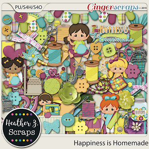 Happiness is Homemade ELEMENTS by Heather Z Scraps