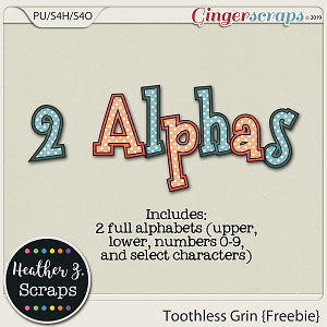 Toothless Grin ALPHABETS by Heather Z Scraps
