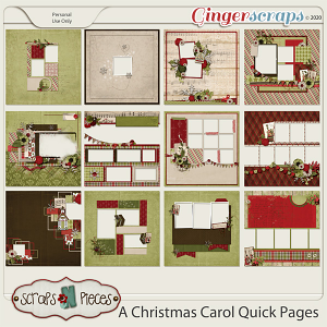 A Christmas Carol Quick Pages by Scraps N Pieces