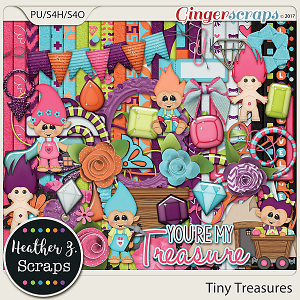 Tiny Treasures KIT by Heather Z Scraps