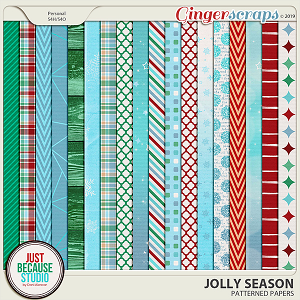 Jolly Season Patterned Papers by JB Studio