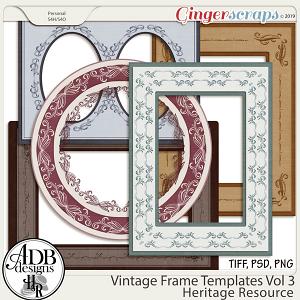 Heritage Resource Vintage Frame Templates Vol 03 by ADB Designs