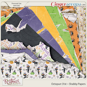 Octopurr 31st Shabby Papers