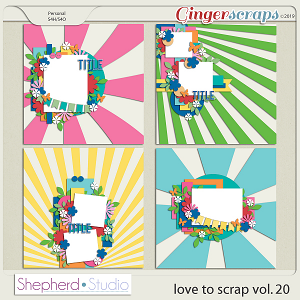 Love to Scrap Volume 20 Templates by Shepherd Studio