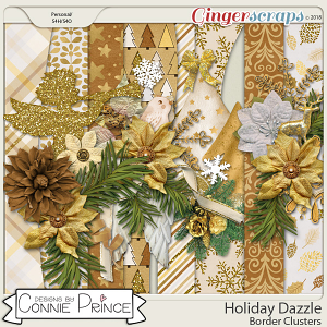 Holiday Dazzle - Border Clusters by Connie Prince