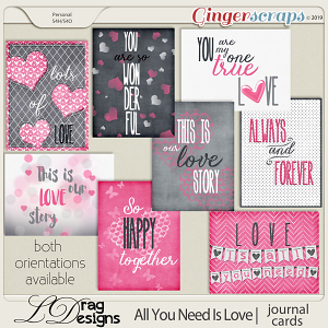 All You Need Is Love: Journal Cards by LDragDesigns