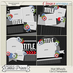 Hot Wheels - 12x12 Templates (CU OK)