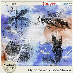 My home workspace Stamps