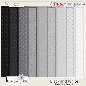 Black and White Embossed Papers by Lindsay Jane