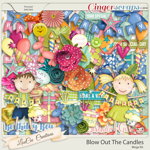 Blow Out The Candles Mega Kit by LouCee Creations