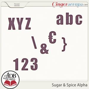 Sugar & Spice Alpha by ADB Designs