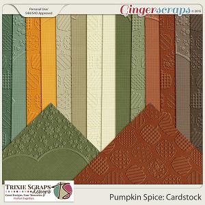 Pumpkin Spice Cardstock by Trixie Scraps Designs