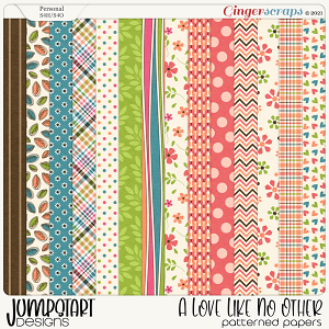 A Love Like No Other {Patterned Papers}