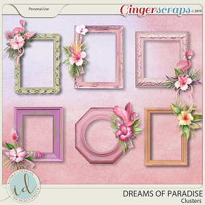 Dreams Of Paradise Clusters by Ilonka's Designs