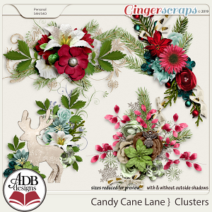 Candy Cane Lane Clusters by ADB Designs