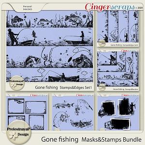 Gone fishing Masks & Stamps Bundle