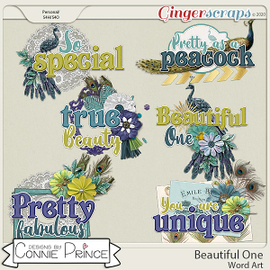 Beautiful One - Word Art Pack by Connie Prince