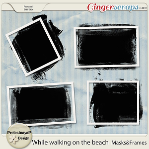 While walking on the beach Masks&Frames