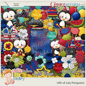 4th of July Penguins-Page kit