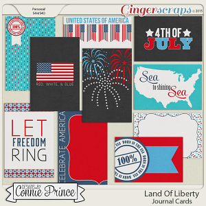 Land Of Liberty - Journal Cards