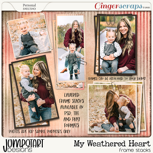 My Weathered Heart {Frame Stacks}