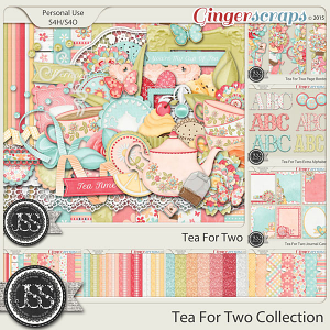 Tea For Two Digital Scrapbook Bundle