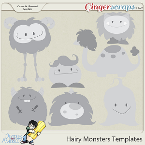 Doodles By Americo: Hairy Monsters Templates