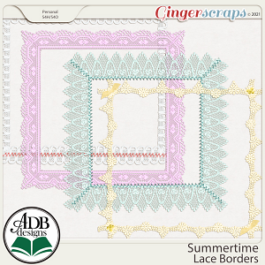 Summertime Lace Borders by ADB Designs