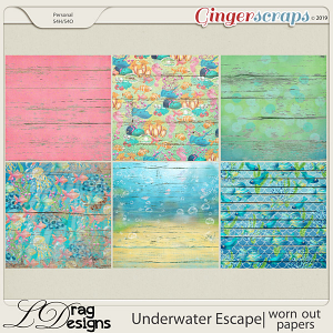 Underwater Escape: Worn Out Papers by LDragDesigns