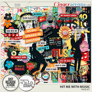 Hit Me With Music Page Kit by JB Studio and Neia Scraps