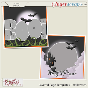 Layered Page Templates ~ Halloween