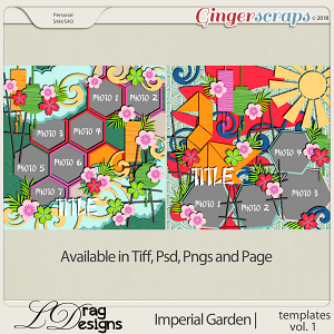 Imperial Garden: Templates Vol. 1 by LDragDesigns