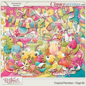 Tropical Parrotise Page Kit