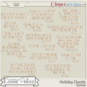 Holiday Dazzle - Quoted by Connie Prince