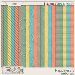 Happiness Is Embossed Papers by Tami Miller Designs