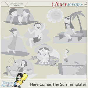 Doodles By Americo: Here Comes The Sun Templates
