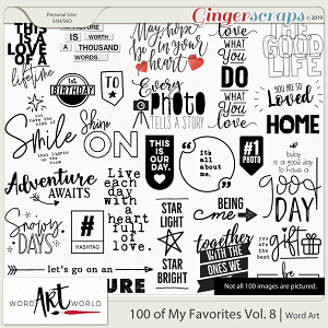 100 of My Favorites Vol. 8 Word Art