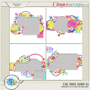 Live Your Story 03 - Templates - by Neia Scraps