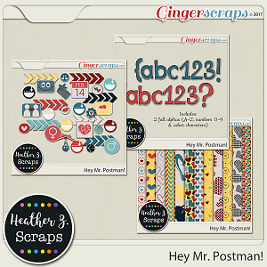 Hey, Mr Postman ADD-ONS by Heather Z Scraps