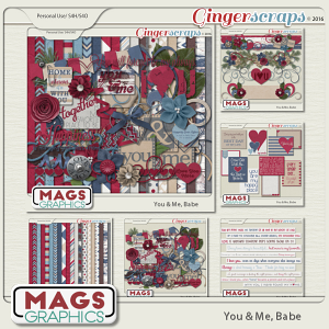 You & Me, Babe BUNDLE + FREE CLUSTERS by MagsGraphics
