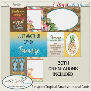 Passport: Tropical Paradise Journal Cards