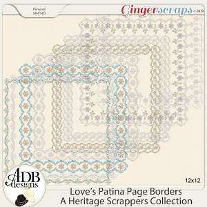 Love's Patina Page Borders by ADB Designs